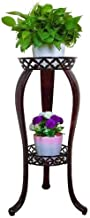 Flower Stand Mini Patio Garden Metal Flower Holder Living Room Home Decoration Iron Plant Stand (Color : Copper, Size : 408131cm)