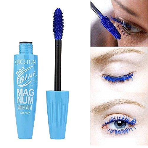 Wimperntusche Mascara Gelb, Blau, Pink mit Verlängerung & Volumen Effekt, Intensive Lange...