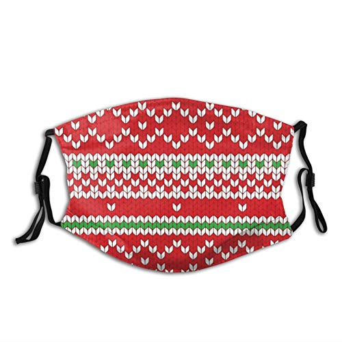 Gingerbread Wearing A Mask Christmas 2020 Face Mask Scarf, Antidust & Reusable Windproof Bandana With 2 Filters, For Outdoor & Indoor