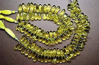 Jewel Beads Natural Beautiful jewellery 17-22mm Natural Lemon Quartz Green Gold Gemstone Microfaceted Tear Drop Briolette Beads-6 Beads/StrandCode:- JBB-34305