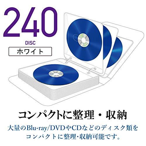 エレコム『DVDCDケース不織布両面収納2穴付』