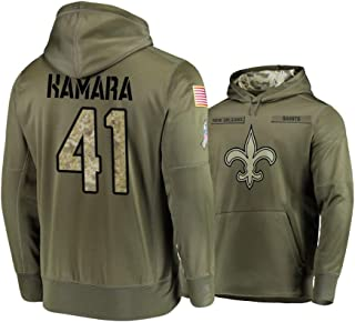 Dunbrooke Apparel New Orleans Saints #41 Alvin Kamara Mens Salute to Service Hoodie - Olive