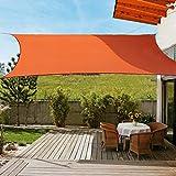 OldPAPA Sonnensegel Rechteckig Sonnenschutz Block 95% UV Wasserdicht Garten Balkon Schwimmbad Leichtgewicht Überdachung mit...