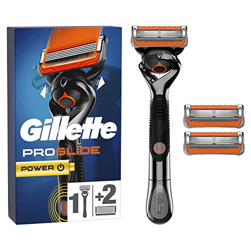Gillette Rasoir Homme Proglide Flexball Power + 2 Lames de Recharges [OFFICIEL]