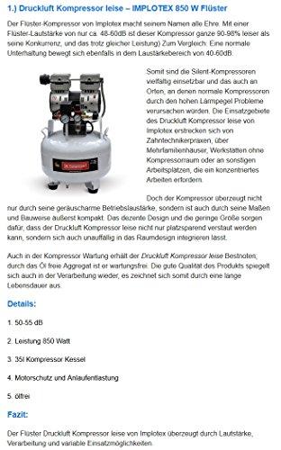 IMPLOTEX 850W Flüster Kompressor - 8