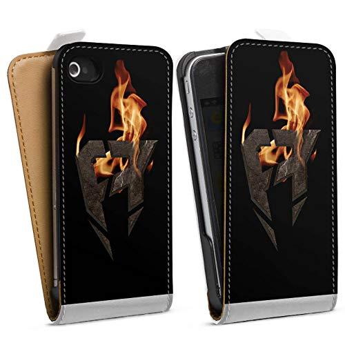 DeinDesign Tasche kompatibel mit Apple iPhone 4 Flip Case Hülle ApoRed Gaming Fanartikel Merchandise