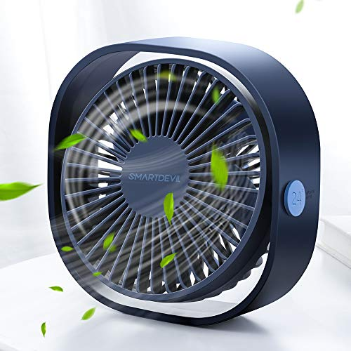 SmartDevil Small Personal USB Desk Fan,3 Speeds Portable Desktop Table...