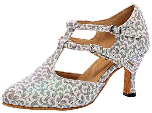 Zapatos de Baile Profesional para Mujer con salón de Baile Latino Social...