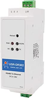 USR-DR302 DIN-Rail Modbus RS485 Serial Port to Ethernet Converter Bidirectional Transparent Transmission Between RS485 and...