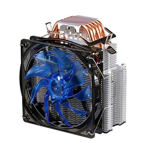 LESHP F5 - Prozessorkühler mit 90 mm PWM Lüfter - CPU Kühler für AMD und Intel Sockel bis zu 230 Watt Kühlleistung