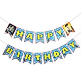 Toy Story Happy Birthday Party Supplies Banner, Blue Sky White Clouds Banner Photography Backdrops for Kids Birthday Baby Shower Toy Story Theme Birthday Party Decorations
