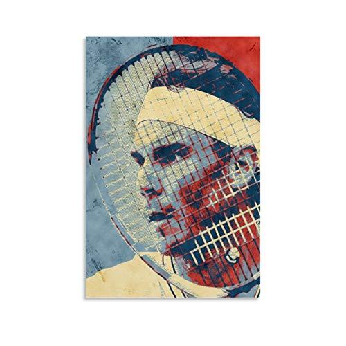 TINGTAI Rafael Nadal - Poster professionale da uomo con giocatori di tennis tennis e poster artistico, poster decorativo su tela da parete per soggiorno, camera da letto, 30 x 45 cm