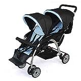 Zwillingsbabys, Zweites Kind, Älteres Kind, Doppelkinderwagen, (rot Und Blau), Können Sich Hinsetzen Und Hinlegen (Farbe : Blau)