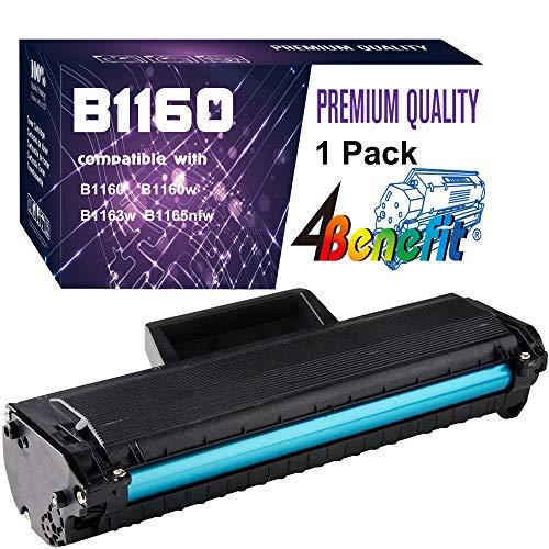 (1-Pack, Black) 4Benefit Compatible YK1PM Toner Cartridge 331-7335 (HF44N HF442) B1160 Used for Dell B1160 B1160w B1163w B1165nfw Laser Printers
