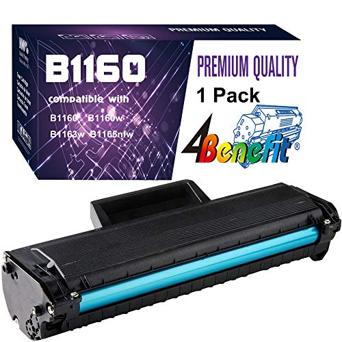 4Benefit Compatible YK1PM 331-7335 HF44N HF442 Toner Cartridge 1160 Used for Dell B1160 B1160w B1163w B1165nfw Mono Laser Printers (1-Pack,Black)