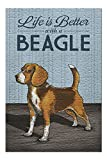 Beagle, Life is Better 54946 (Premium 500 Piece Jigsaw Puzzle for Adults, 13x19, Made in USA!)