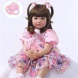 iCradle Reborn Baby Girl Muñeca Princesa Largo Pelo de Apariencia Realista Simulación de Nacer...