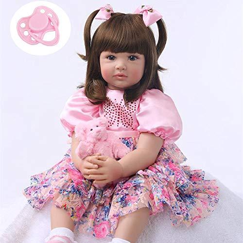iCradle Reborn Baby Girl Muñeca Princesa Largo Pelo de Apariencia Realista Simulación de Nacer Niño Recién Nacido Muñecas Juguete Regalo para Navidad