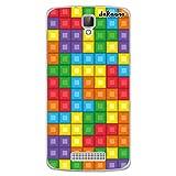 dakanna Funda Compatible con [ZTE Blade L5 - L5 Plus] de Silicona Flexible, Dibujo Diseño [Bloques de Juego Multicolor], Color [Borde Transparente] Carcasa Case Cover de Gel TPU para Smartphone