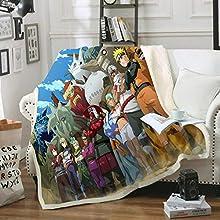 Manta de franela WYWZDQ Naruto, manta de impresión 3D para sofá, manta de lana, sábanas, calor y aislamiento, para camping (9,150 x 200 cm)