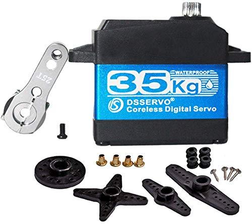 ZHITING 35kg Servomotore Digitale Senza Nucleo ad Alta Coppia Servomotore in Metallo con Ingranaggi in Acciaio Inossidabile Impermeabile per Auto RC Robotica - 270 Gradi