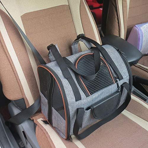 WWWL Mochila transpirable asiento de coche perro mochila de viaje al aire libre malla impermeable plegable bolsa de transporte gato cachorro casa mascotas suministros accesorios para perros como