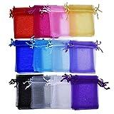 Naliovker 60 Piezas Organza Bolsas de Regalo Cordón Bolsas de Joyería Bolsas para El Favor del Banquete de Boda 4 por 4.7 Pulgadas, 12 Colores de Color l zar
