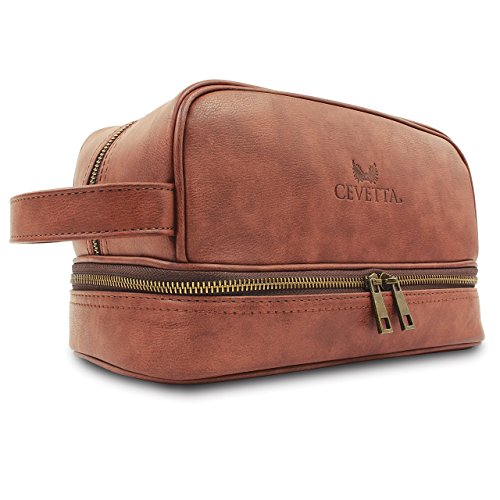 Cevetta, Trousse de toilette Unisexe Adulte (bagage uniquement) marron clair One_Size