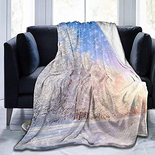 wobuzhidaoshamingzi deken van molton, ultrazacht, flanel, voor winterlandschap