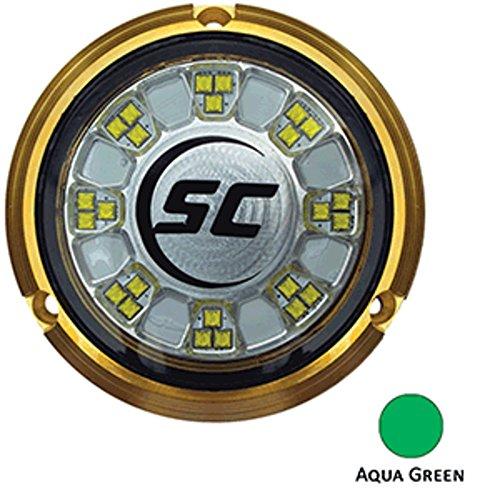 Shadow-Caster LED Lighting Shadow-Caster SCR-24 Bronze Underwater Light - 24 LEDs - Aqua Green