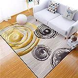 WJTHH Alfombra moderna tradicional alfombra grande para dormitorio, color negro, marrón grande, rollo de tinta, alfombra de yoga, alfombra interior, 40 x 60 cm
