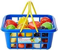Casdon 633 Little Shopper Fruit and Vegetable Fruit & Veg Assorted Toy Basket with Fruits & Vegetabl...