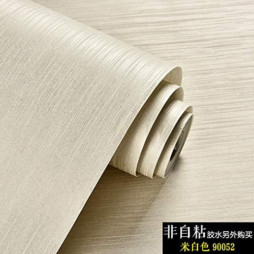 Modern en minimalistisch behang wandsticker vlies uni woonkamer slaapkamer behang techniek Amerikaans linnen tafelkleed warm effen 1 rol Beige-90052