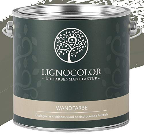 Lignocolor Wandfarbe Innenfarbe Deckenfarbe Kreidefarbe edelmatt 2,5 L (Jungle)