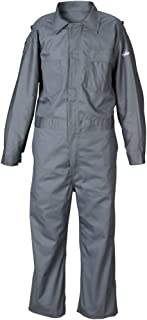 Lakeland 9 oz Flame Resistant Cotton Coverall, Open Cuff, 2X-Large, Gray (Case of 6)