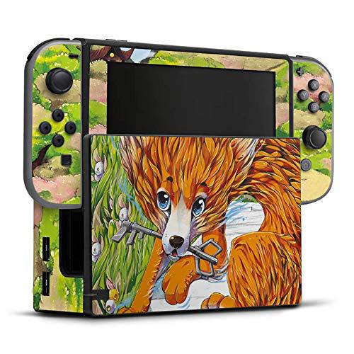 DeinDesign Skin Aufkleber Sticker Folie für Nintendo Switch Fox Fuchs Zeichnung