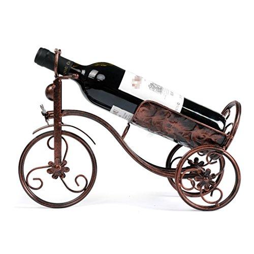 HSHELF-Meubles Étagères murales multifonctionnelle Loft Red Wine Racks Creative Bottle Wine Racks Home Furnishings Retro and Industrial Decore la tablette, 35 (L) * 10 (D) * 26 (H) cm Étagère murale é