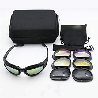 Polarized Goggles Polarized Army Sunglasses Motorcycle Riding Glasses Goggles Sunglasses for Men and Women 4 Lens Kit Tact...