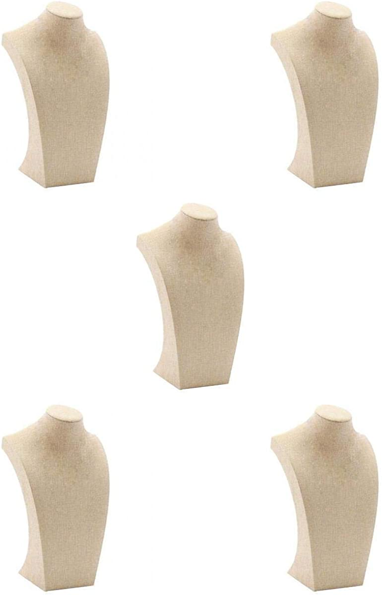 Year-end annual account Harilla Set of 5 Elegant Mannequin Bust Necklace Columbus Mall Display