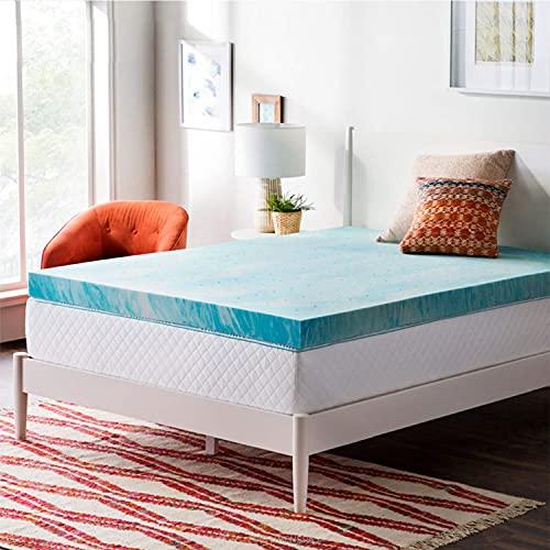 Colchón tamaño queen, colchón de espuma viscoelástica de gel en una caja para un sueño fresco y alivio de la presión, sensación de firmeza media, colchón de cama premium con funda suave y transpirab
