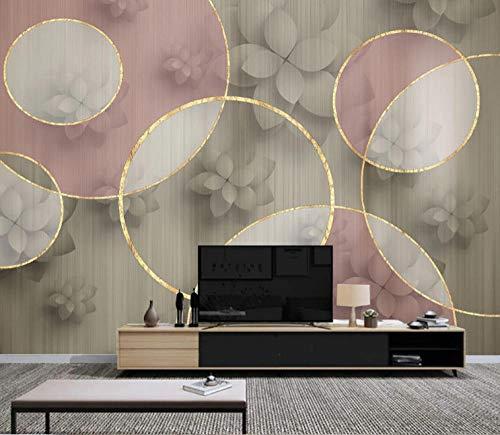 Fotobehang stickers geometrisch patroon, bloem 3D vliesbehang voor slaapkamer woonkamer keuken muurkunst decoratie 400x280cm