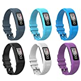 Watbro Bands Compatible with Garmin Vivofit 1/ Vivofit2, Soft Silicone Colorful Replacement Watch Band Strap Wristband for Vivofit 1/ Vivofit 2 Activity Tracker, for Women Men Small Large