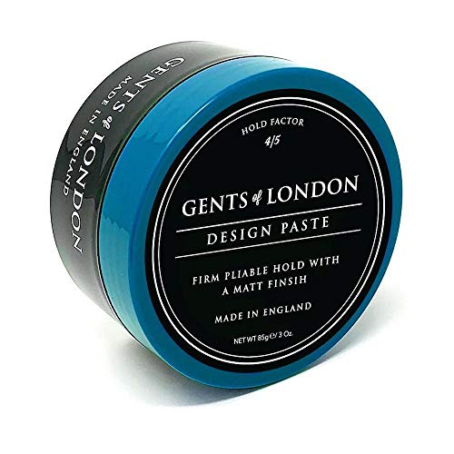 Gents of London Design Paste Mattes Haarwachs/Hair Wax für Fest Halt und Professionelle Haarstylings (85g)