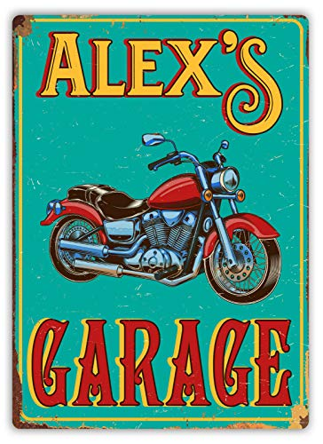 Garage Motorfiets Retro IJzeren Schilderij Tin Wandbord Aluminium Waarschuwing Plaque Metalen Poster Artwork Decor voor Thuis Tuin Outdoor Bar Café