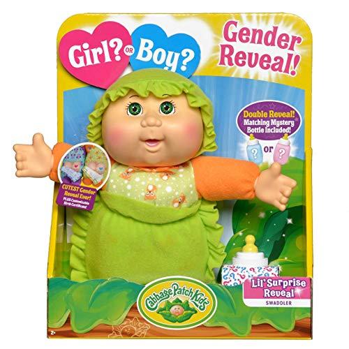 "Cabbage Patch Kids Surprise Gender Reveal 9"" Deluxe Newborn Baby (Green Eyes, Boy)"