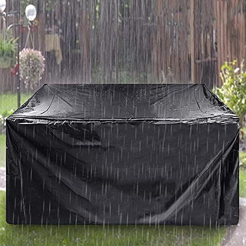 Garden Furniture Cover Haryar 420D Oxford Cloth Black Outdoor Waterproof, Windproof and UV Proof (213x213x74)