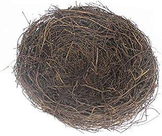 LWINGFLYER 2pcs Rattan Bird's Nest Crafts Handmade Dry Natural Bird's Nest for Garden Yard Home Party Wedding Decor No Egg...