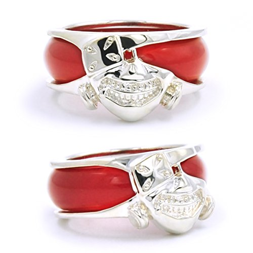 CoolChange Tokyo Ghoul Ring aus echtem 925 Sterlingsilber und rotem Achat
