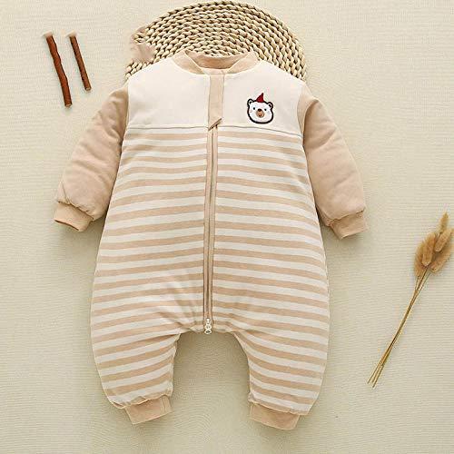 Deken katoenen slaapzak, pasgeboren slaapzak, baby katoenen kleding-lichtbruin_The, voor 0-12 maanden baby