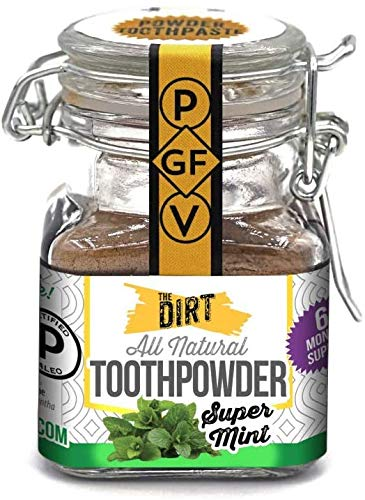 The Dirt All Natural Gluten & Fluoride Free Tooth Powder - Organic Teeth Brightening with Essential...